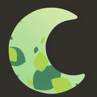 新月形的夏天形象