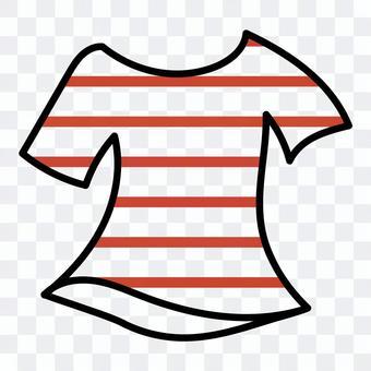 ボーダーTシャツ(レッド)