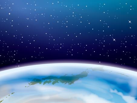 地球和日本地圖的圖像