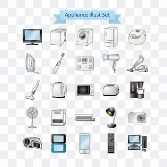 消費類電子產品的插圖