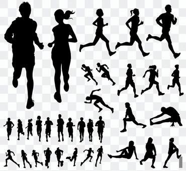 跑步 - 剪影集2