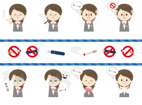 Female receptionist_smoking