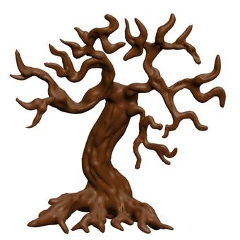 Deformed horror tree CG