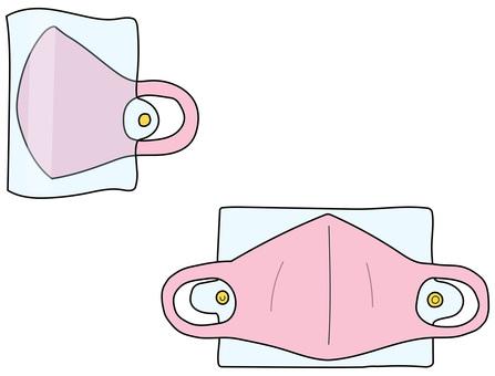 面具和麵具盒粉紅色