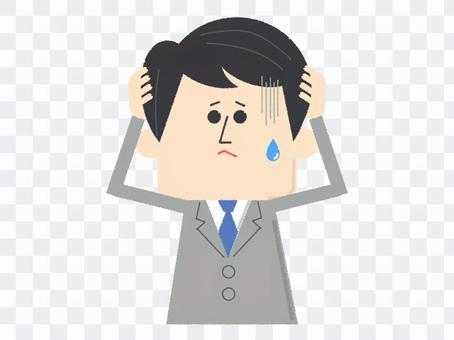 People male suits hugging black hair head