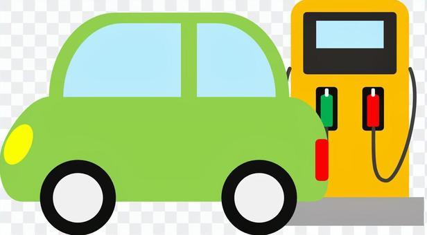 加油站和汽车