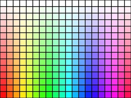 具有色相和飽和度漸變的瓷磚