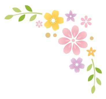 花 飾り枠