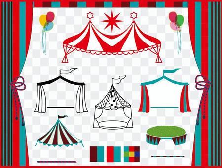 馬戲團小屋框架