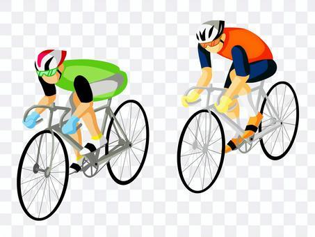 參加自行車比賽的運動員