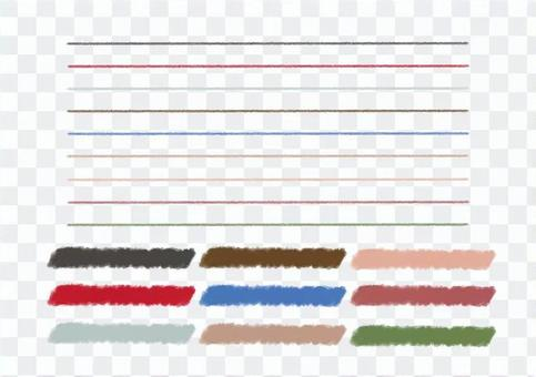 Adult color crayon line Material PNG Yes