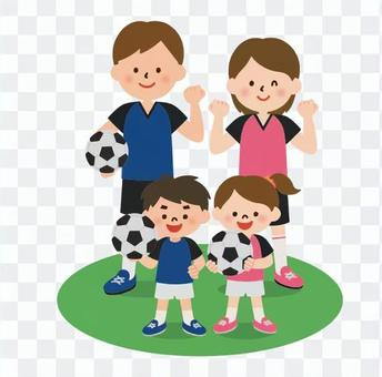サッカー大好き家族