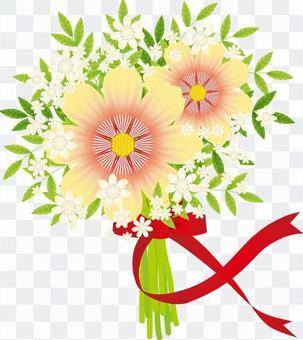 美麗的花束和絲帶9