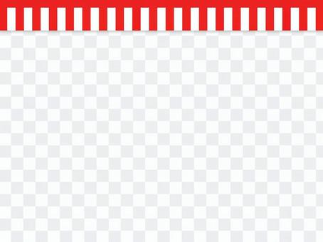 紅色和白色帷幕框架事件事件等裝飾框架。