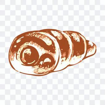 チョココロネのスケッチイラスト