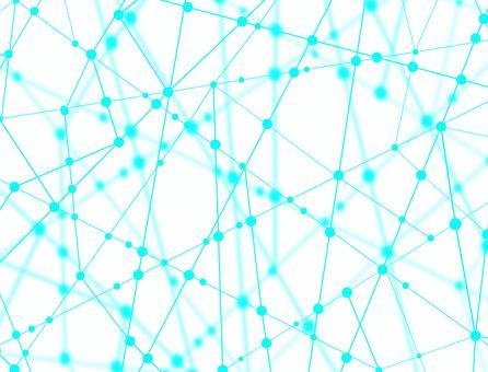 ネットワークのイメージ 丸と線 白背景