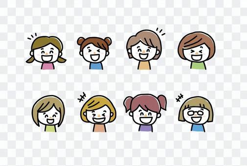 女孩兒童微笑集