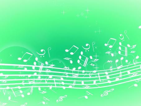 Musical note wallpaper green 2