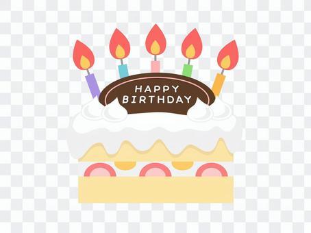 生日蛋糕(巧克力盤子)
