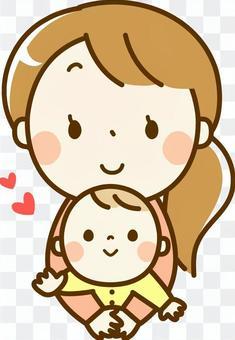 嬰兒和媽媽