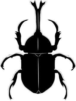 甲殼蟲(俯視圖,簡單觸摸)