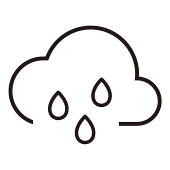 Weather icon (rain ③)