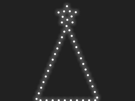 聖誕樹照明 B:白框