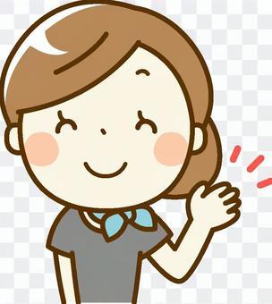 美容師woman_指導微笑