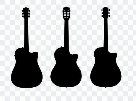 吉他剪影3