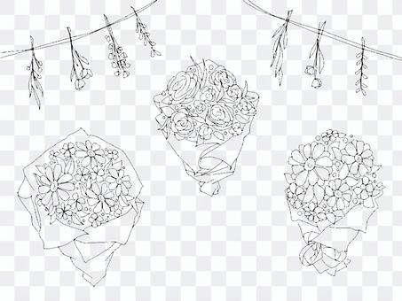 手寫花束花束