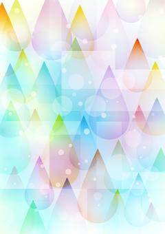 多彩滴玻璃藝術風格背景垂直