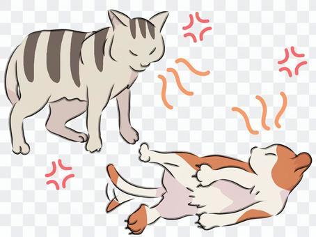 貓打氣素材簡單