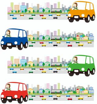 城市驾驶车辆