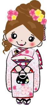 七歲的Shichigosan女孩
