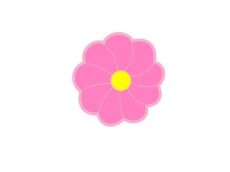 Pink flower mark icon