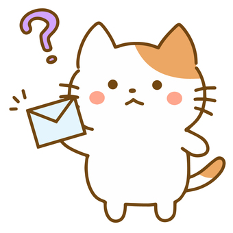 A cat floating on Hatena with an email