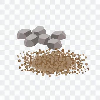 土壤、沙子、岩石和石頭的圖像