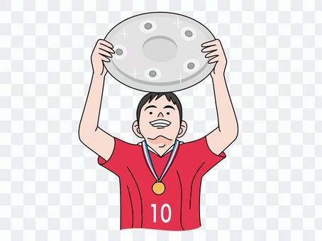 有小碟子的足球運動員2