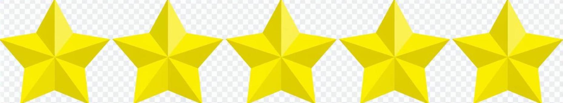 Star 5 icons ★ 3D ★ Design Parts