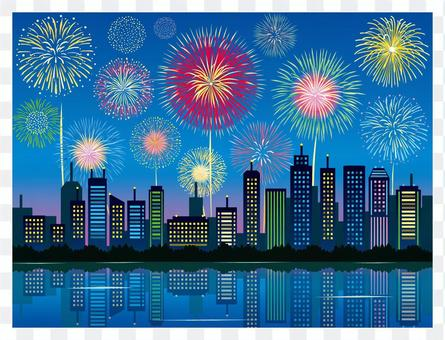 Fireworks and skyscrapers