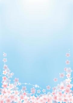 櫻桃背景,A4垂直,帶腳