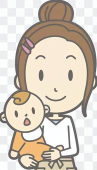 新妻子的家庭主婦d  - 擁抱 - 胸圍