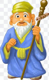 Seven Lucky Shrines Old Man