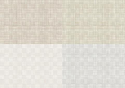 Linen fabric pattern set