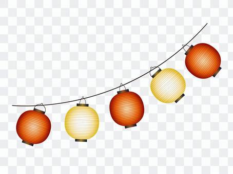 材料吊燈紅色/白色