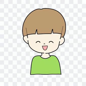微笑男孩(棕髮)
