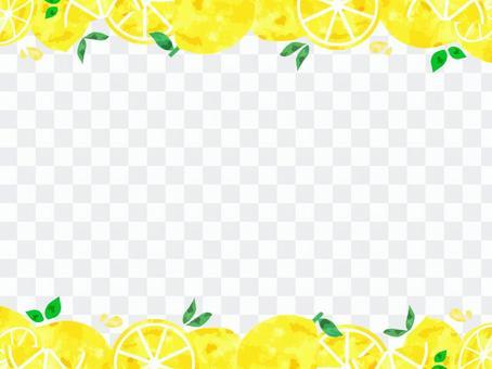 時尚和新鮮的水彩檸檬框架