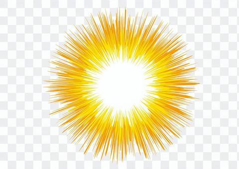 背景_集中線_黄色2
