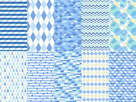 一組幾何圖案(藍色)