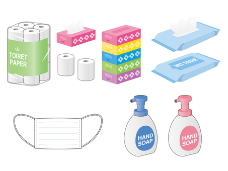 Various things such as toilet paper